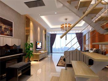 客厅楼梯现代欧式风格装修效果图