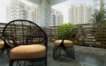 阳台地砖欧式风格装潢效果图