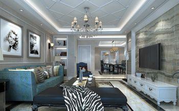 客厅背景墙简欧风格装饰设计图片