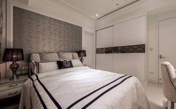 卧室推拉门欧式风格装潢图片