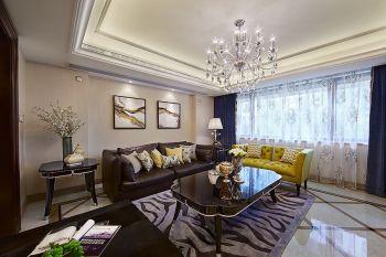 客厅窗帘现代欧式风格装饰图片
