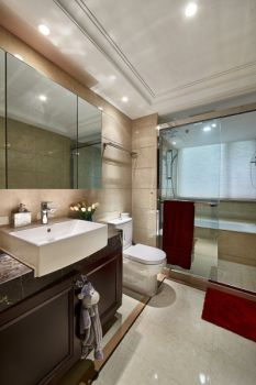 卫生间洗漱台现代欧式风格装潢设计图片