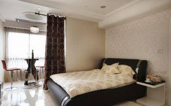 卧室米色现代简约风格装潢图片