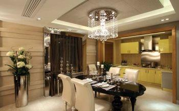餐厅灰色吊顶现代欧式风格装饰图片