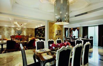 餐厅餐桌现代欧式风格装修效果图