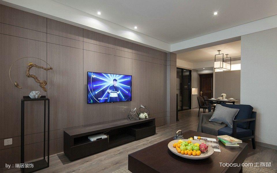 客厅 背景墙_8万预算120平米三室两厅装修效果图
