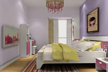 卧室白色窗帘简约风格装饰效果图