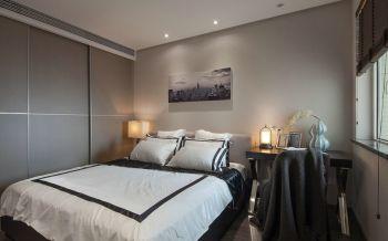 卧室灰色推拉门现代风格装饰设计图片