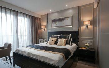 卧室灰色背景墙现代风格装修效果图