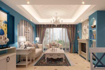 荷塘月色120平米地中海风格三居室装修效果图