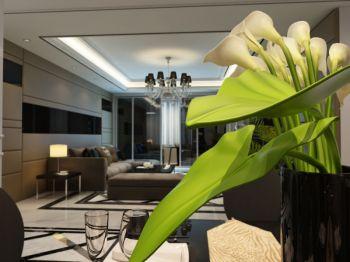 三居室家庭现代欧式风格装修效果图欣赏
