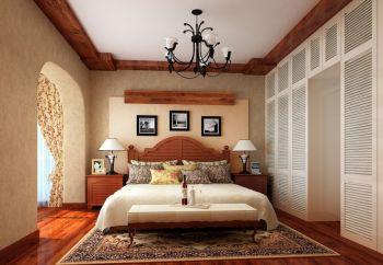 卧室黄色照片墙美式风格效果图
