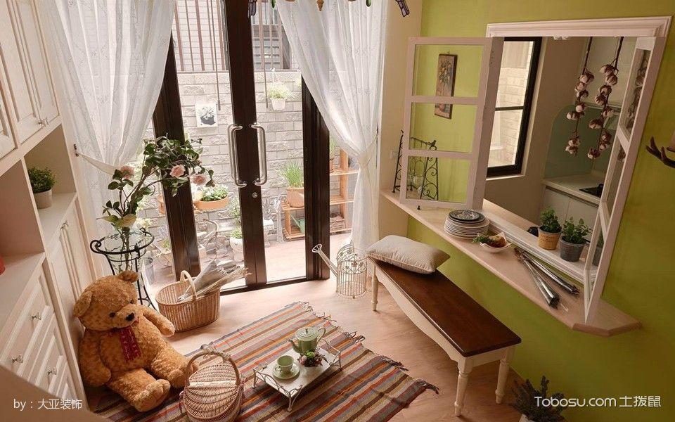 儿童房白色窗帘混搭风格装饰设计图片