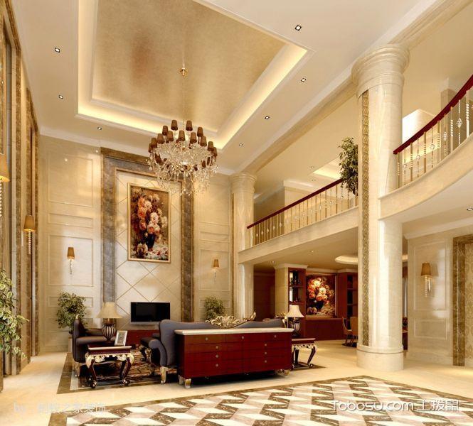 客厅白色窗帘简欧风格装修效果图图片