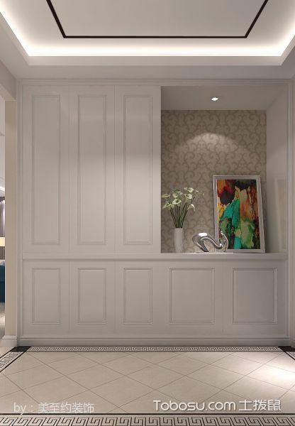 玄关白色门厅简约风格装修效果图