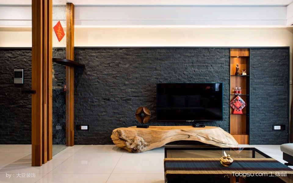 客厅 背景墙_16.85万预算120平米套房装修效果图