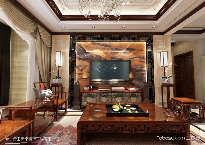 客厅 背景墙_20万预算120平米四室两厅装修效果图
