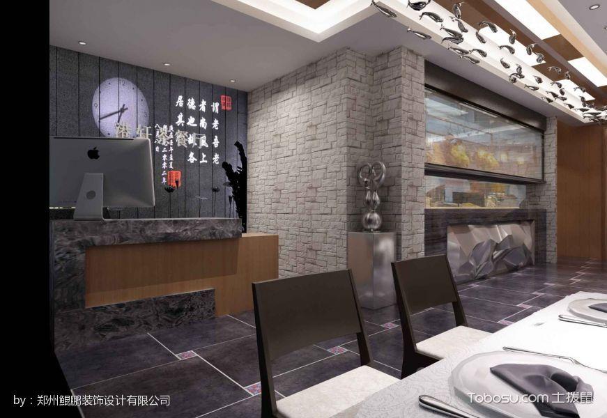 西班牙风情餐厅收银台装潢设计