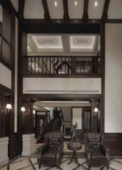 欧式灰色系古典豪宅装修效果图
