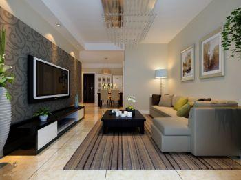 华地紫园现代风格两居室装修图片