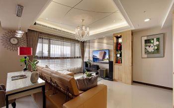 客厅黄色吊顶现代风格装饰效果图