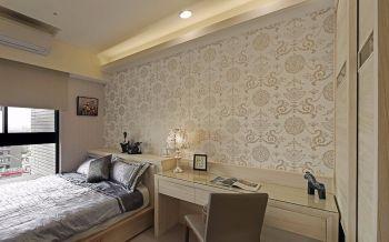 卧室黄色背景墙现代风格装饰图片
