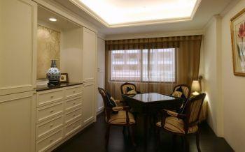 阳光房咖啡色窗帘欧式风格装饰设计图片