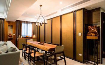 餐厅黄色餐桌现代中式风格装饰图片