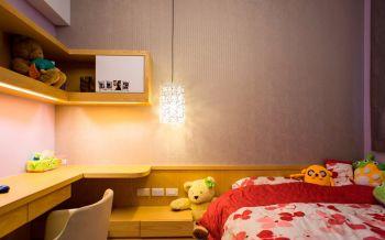 儿童房红色床现代中式风格装潢图片