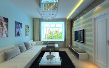 5.2万预算80平米两室两厅装修效果图