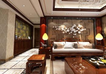 客厅背景墙中式风格装潢图片