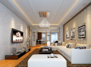 8万预算110平米三室两厅装修效果图