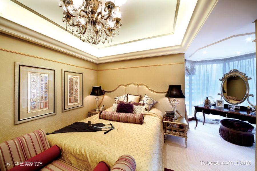 卧室咖啡色梳妆台简欧风格装修图片