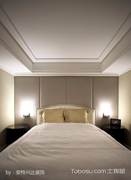 卧室白色吊顶现代风格装修效果图