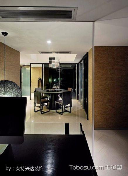 餐厅黑色餐桌古典风格装修设计图片