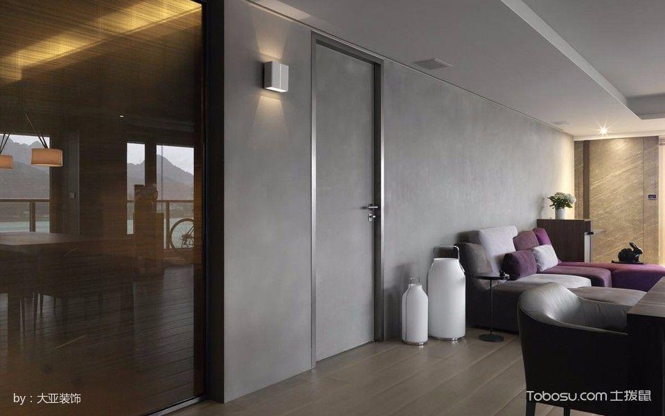 2018简约客厅装修设计 2018简约隐形门装修图