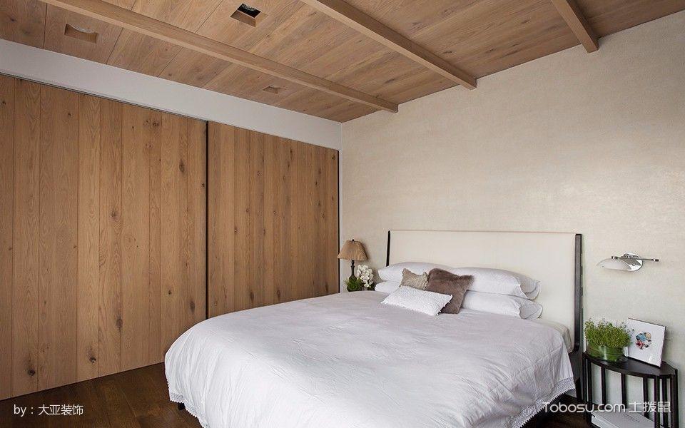 卧室黄色推拉门混搭风格装饰效果图