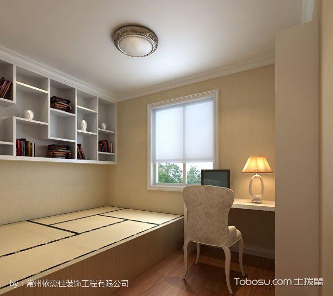 卧室黄色榻榻米简欧风格装饰设计图片