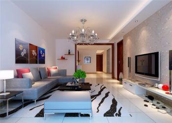 9万预算110平米三室两厅装修效果图
