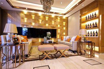 客厅背景墙现代欧式风格装饰效果图