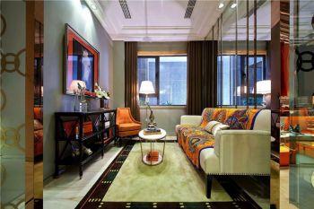 起居室窗帘现代欧式风格装潢效果图