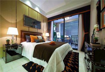 卧室背景墙现代欧式风格装修图片