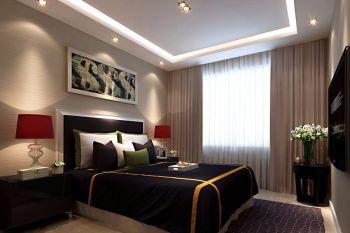 卧室背景墙现代中式风格装饰效果图
