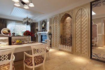 餐厅餐桌欧式田园风格装饰设计图片