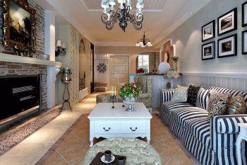 客厅照片墙欧式田园风格装潢设计图片