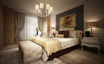 卧室窗帘欧式风格装饰效果图