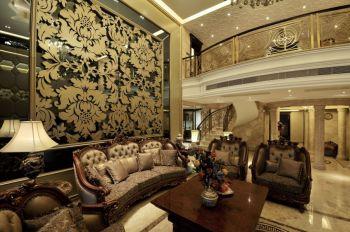 客厅现代欧式风格装潢效果图
