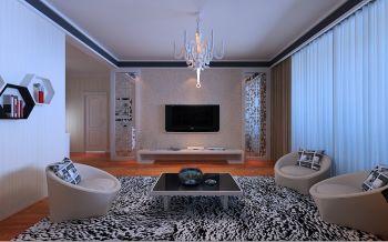 5.5万预算90平米两室两厅装修效果图