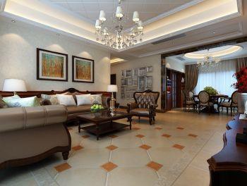 客厅地砖欧式风格装潢效果图