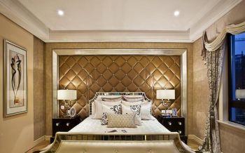 卧室背景墙现代欧式风格装饰图片